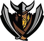 Viking Norseman Mascot Graphic with