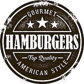 Classic Hamburger Stamp