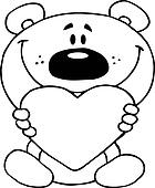 Outlined Teddy Bear