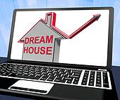 Dream House Home Laptop Means Finding Or Building Ideal Property