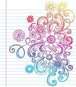 Flowers Sketchy Notebook Doodles