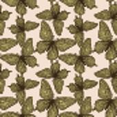 seamless background with butterflies vintage color.