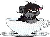 Cartoon Teacup Dog