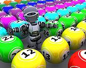 robot with bingo balls