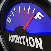 Fuel Gauge Ambition Measuring Enthusiasm