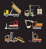 Construction Vehicles - set of vect