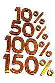 Increase in percent
