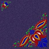 Moravian folk ornament relief painting on generated knit texture