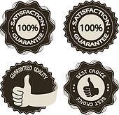 Vector brown satisfaction guarantee labels