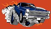 Smokin Muscle Car