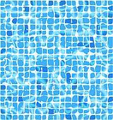 Ceramic tiles with sunlight riple.