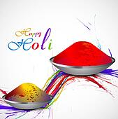 Gulal for holi background beautiful grunge of colorful wave vector design