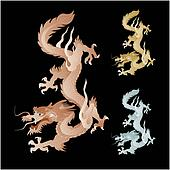 golden dragon graphic clip art