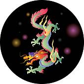 chinese DRAGON vector graphic