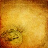 Aged paper with compass
