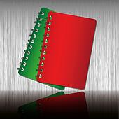 Red and Green shadow cover notebook