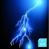 Blue Vector Lightning Bolt