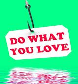 Do What You Love On Hook Displays Inspiration And Motivation