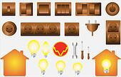 set isolated objects of electrical