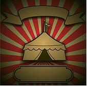 Retro Circus Tent Sign