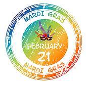 Mardi Gras grunge stamp