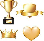 Gold Trophy Set