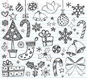 Christmas Sketchy Doodles Set