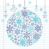 Christmas Ornament Sketchy Doodles