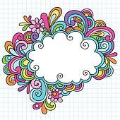 Psychedelic Cloud Frame Doodles