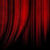 dark red theater curtain