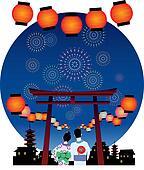 japanese summer festival graphic