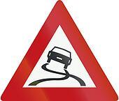 Netherlands road sign J20 - Slippery road