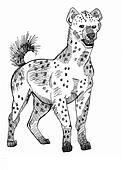 Hyena standing