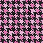 Houndstooth Pattern_Magenta-Black