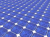 3d solar panel background