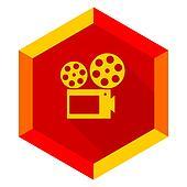 movie flat design modern icon