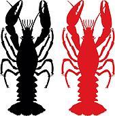Craw fish silhouette