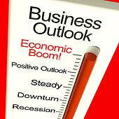 Business Outlook Economic Boom Monitor Shows Growth And Recovery