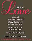 Share the Love Valentine's Invite