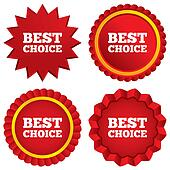 Best choice sign icon. Special offer symbol.