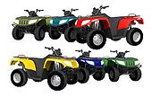 Quad Bikes ATV Isolated
