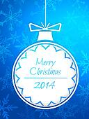 Simple Bauble Merry Christmas 2014
