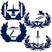 Abstract icons Navy torpedo bombers