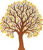 Tree with orange leaves 1