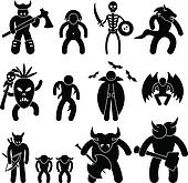 Evil Ancient Warrior Character