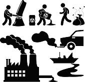 Global Warming Pollution Green Icon