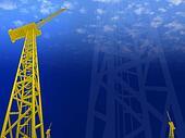 crane constructions 3d cg