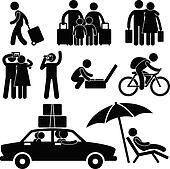 Famil Tourist Travel Vacation Trip