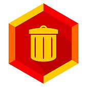 recycle flat design modern icon
