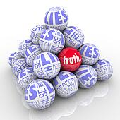 The Truth Hidden Among Lies Pyramid of Stacked Balls